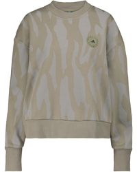 adidas By Stella McCartney Bedrucktes Sweatshirt aus Jersey - Grau