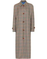 Giuliva Heritage Collection Manteau Maria en laine vierge à carreaux - Neutre