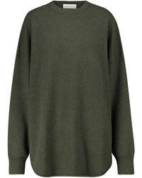 Extreme Cashmere N° 53 Crew Hop Cashmere-blend Jumper - Green