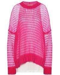 N°21 Pullover in misto mohair - Rosa