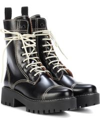 ALEXACHUNG - Leather Ankle Boots - Lyst
