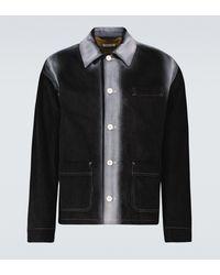 Marni Spray-effect Cotton Corduroy Jacket - Black