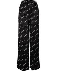 Balenciaga Pantaloni a stampa in jacquard di seta - Nero