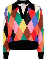 RIXO London Cecily Harlequin Cashmere Sweater - Multicolor