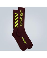 Off-White c/o Virgil Abloh Diagonal Mid-length Socks - Multicolour