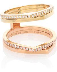 Repossi Exklusiv bei Mytheresa – Ring Antifer aus 18kt Rosé- und Gelbgold mit weißen Diamanten - Mettallic