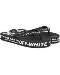 Off-White c/o Virgil Abloh Ciabatte infradito con logo - Nero