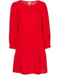 Velvet Mirella Cotton Gauze Minidress - Red