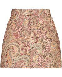 Etro Paisley Wool And Silk-blend Skort - Multicolor