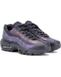 Air Max 95 Leather Sneakers Gray