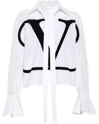 Valentino Blusa VLOGO in cotone - Bianco