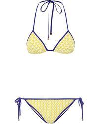 Valentino Exclusive To Mytheresa – Printed Triangle Bikini - Yellow