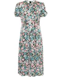 Marc Jacobs Floral Silk Jacquard Midi Dress - Multicolor