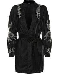 Dodo Bar Or - Embellished Velvet Kimono Jacket - Lyst