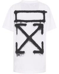 Off-White c/o Virgil Abloh T-shirt en coton imprimé - Blanc