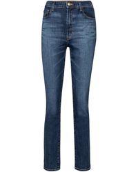 J Brand High-Rise Slim Jeans Tegan - Blau