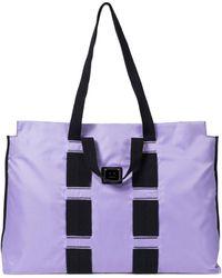 Acne Studios Exclusive To Mytheresa – Logo Plaque Tote - Purple