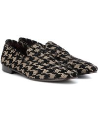 Bougeotte Classic Tweed Loafers - Black