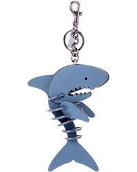 COACH - Leather Shark Bag Charm - Lyst
