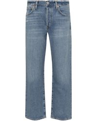 Citizens of Humanity Emery Crop High-rise Straight Jeans - Blue