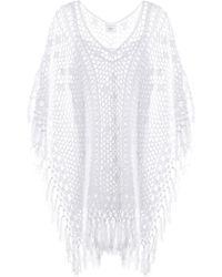Anna Kosturova - Robe en crochet de coton Tassel - Lyst