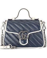 Gucci Borsa a spalla GG Marmont mini - Blu