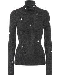 Christopher Kane Embellished Turtleneck Sweater - Gray