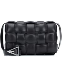 Bottega Veneta Sac porté épaule Padded Cassette en cuir - Noir