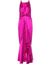 Tom Ford Exclusivo en Mytheresa – vestido de fiesta de satén de seda - Morado