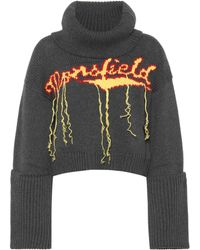 Monse Jersey de lana intarsia cuello alto - Gris
