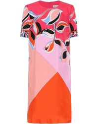 Emilio Pucci Printed Colour Block Dress - Pink