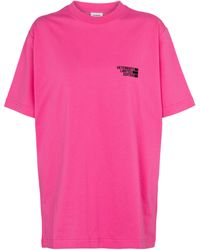 Vetements Camiseta de punto fino con logo - Rosa