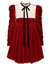 Khaite Exclusive To Mytheresa – Ann Velvet Minidress - Red