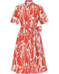 Ferragamo Printed Cotton Dress - Orange