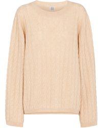 Totême - Cable-knit Cashmere Sweater - Lyst