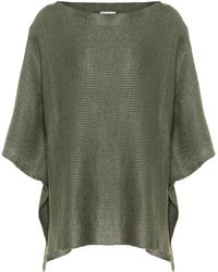 Brunello Cucinelli - Linen And Silk Knitted Cape - Lyst