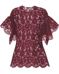Valentino Lace Top - Red