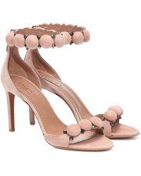 Alaïa Bombe Suede Sandals - Multicolour