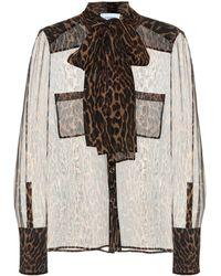 Burberry Leopard-print Silk Blouse - Multicolour