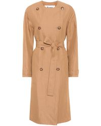 Acne Studios Anghelica Gabardine Trench Coat - Natural