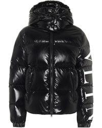 Valentino Vltn Down Puffer Jacket - Black