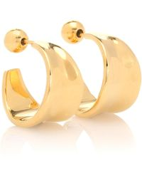Sophie Buhai - Small Wave 18kt Gold-plated Hoop Earrings - Lyst