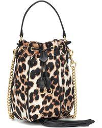 Miu Miu Bucket-Bag mit Lederdetails - Schwarz