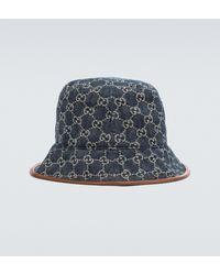 Gucci GG Canvas Bucket Hat - Blue