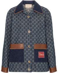 Gucci Giacca di jeans GG - Blu