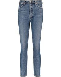 Goldsign The High-rise Slim Jeans - Blue