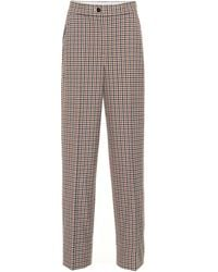Tory Burch High-rise Plaid Trousers - Multicolour