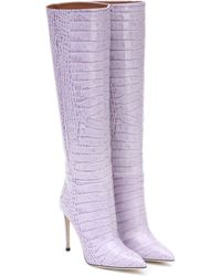 Paris Texas Stiefel aus Leder - Lila