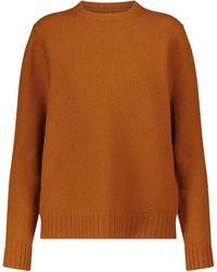 Jil Sander Jersey de lana merino - Naranja
