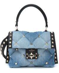 dce85da07f Lyst - Givenchy Pandora Chain Denim Shoulder Bag in Blue